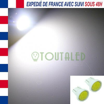 2X Ampoule Lampe 12V T10 W5W 1 Led Cob Blanc Froid Xenon Plafonnier Tuning
