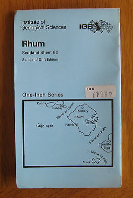 IGS Geological Survey Map of RHUM - Solid and Drift Edition - sheet 60 - 1971