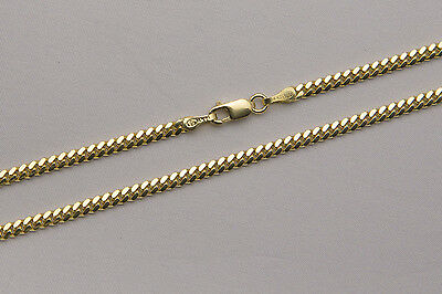 """14k Solid Yellow Gold 2mm Men Women Miami Cuban Link Chain Necklace Size 20""""-36"""""""