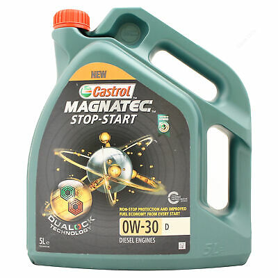 Castrol Magnatec Stop-Start 0w-30 D Fully Synthetic Car Engine Oil - 5 Litres 5L