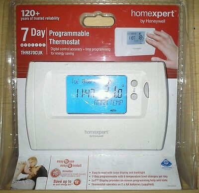 Homexpert THR872CUK 7 day programmable thermostat BY HONEYWELL