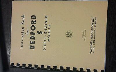 Bedford S Type Diesel Engined Models Instruction Book
