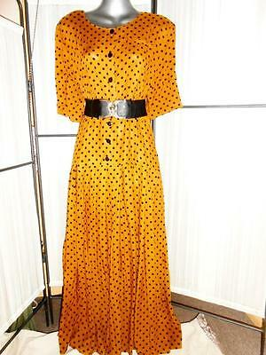 Genuine Vintage 90's Does 40's Ladies Dress-Tagged 14 To Fit 10-12