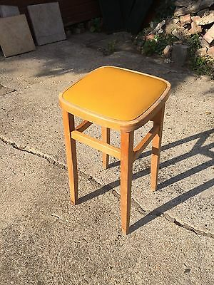 Wooden Laboratory Stool Vintage Retro Nice Not Perfect 620mm High