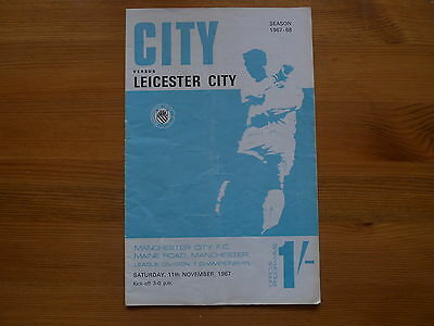 MANCHESTER CITY v LEICESTER CITY 1967-68 FOOTBALL PROGRAMME