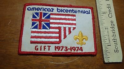 Vintage America's Bicentennial Gift Boy Scout Of America Patch  Bx C #10