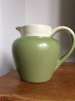 Jug Green Cream Pottery
