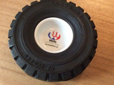 vintage rubber tyre with ashtray