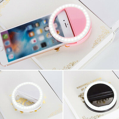 Portable Selfie LED Ring Flash Light Camera Photography For iPhone Cell Phone ^^