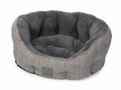 House of Paws Hessian Oval Dog Bed Small Grey FREE P&P BNWT