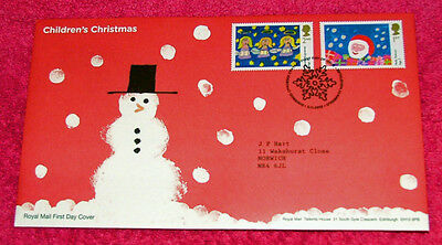 British Children's Christmas   First Day Cover 2013