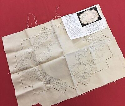 vintage embroidery kit. Tray cover