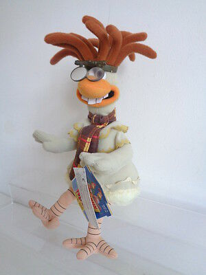 "CHICKEN RUN MOVIE - 10"" BEANIE SOFT TOY ""MAC"" by PLAYMATES - NEW WITH TAG"