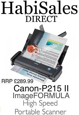 Canon P215 Mark II (2) A4 Colour Document Portable Scanner 15ppm  RRP £289.99