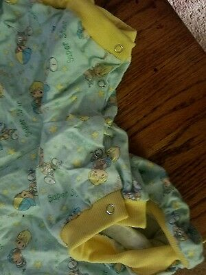 "Adult Baby 42"" Snapped BIBBED summer suit precious moments"
