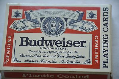 Vintage advertising playing cards Budweiser king of Beers used