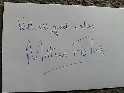 MILTON JOHNS - Doctor Dr Who Autograph Signed