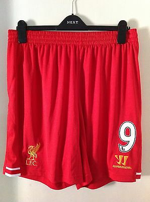 Liverpool FC Home Shorts Adults Size LARGE New Tagged Fowler Rush Benteke 9 LFC