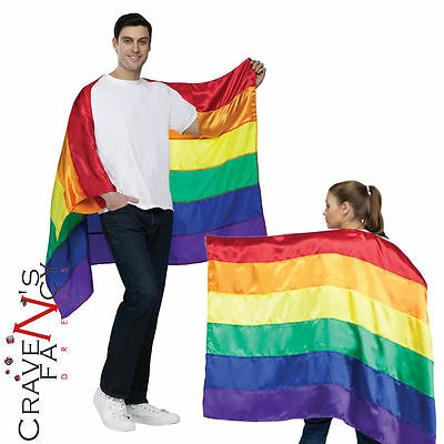 Rainbow Gay Pride Cape Cloak Fancy Dress Costume Party Adult Carnival Parade New