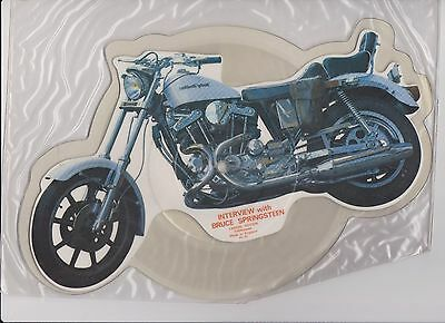 Bruce Springsteen Harley Motorcycle Picture Disk Interview  UK issue