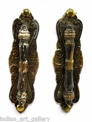 Vintage Indian Classic Style Old Brass Pair Of Door Handles Home Décor. i24-50
