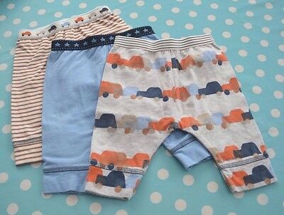 Next Baby Boy 3 Pairs Trousers First Size 7.8Lbs - In Good Condition
