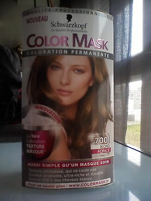 Schwarzkopf coloration permanente color mask 700 blond foncé neuf