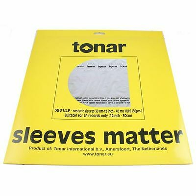 "Tonar Nostatic 12"" LP Record Inner Sleeves (pack of 50)"