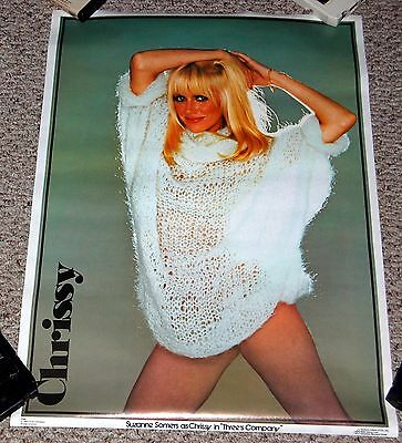 SUZANNE SOMERS as Chrissy Three's Company 1980 Poster Dargis #3780 White Sweater