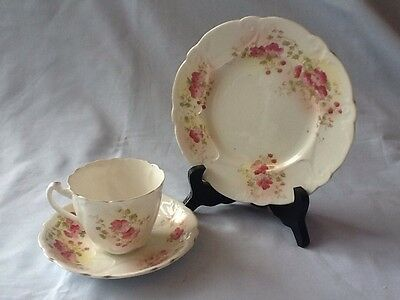 Exquisite Foley Part Tea Service. Cup, Saucer And Plate  c1880