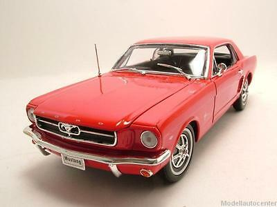 Ford Mustang Coupe 1964 ,5 rot, Modellauto 1:18 / Welly