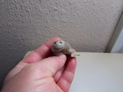 Harp Seal Pup, Hand carved Stone from the Andes Miniature Seal Pup, Unique