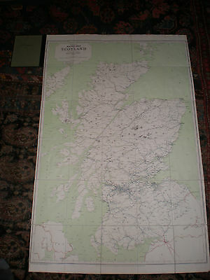 BTC. Official Railway Map of Scotland  1960. Cloth Backed, with Hard Covers.
