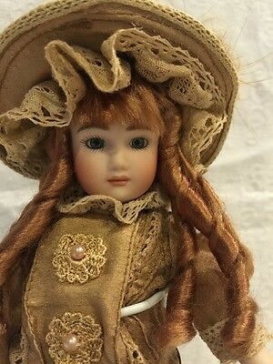 """German Reproduction All Bisque Doll 8"""". BEAUTIFUL"""