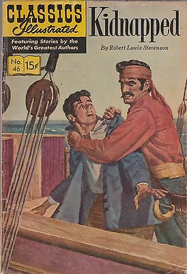 Classics Illustrated, Kidnapped  #46  Gilberton 1965  Hrn 167
