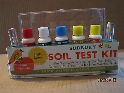Vtg. Soil Test Kit By Sudbury. 1960's/70's