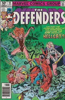 The Defenders #94 Marvel 1981 Hell Cat