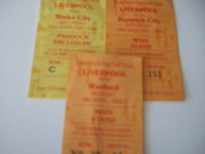 Three Liverpool Home tickets 84/5