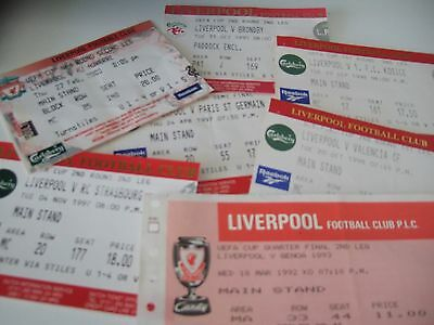 Seven european Liverpool home tickets