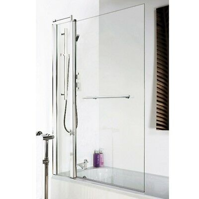 Premier 1435mm Square Bath Screen With Rail and Fixed Panel