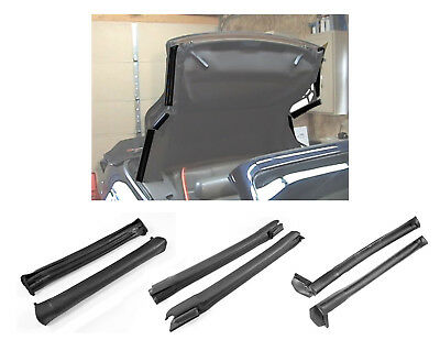 1994-2000 Mustang Convertible Top Front Center & Rear Side Rail Weatherstrip Kit