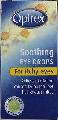 Optrex Soothing Eye Drops for itchy eyes caused by pollen, pet hair & dust 10ml