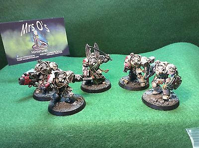 Warhammer 40K Space Marine Deathwing Terminator Squad Well Painted (G72)