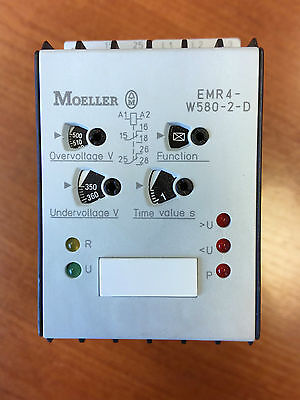NEW Moeller EMR4-W580-2-D 3-Phase Sequence, Phase Failure And Monitoring Relay