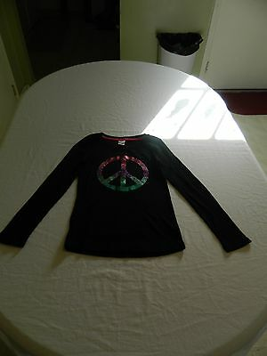 Little girls Circo Thermal Peace Sign Long Sleeve Shirt Size 10-12