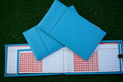 Miclub Blue leather golf autoscore card holder - Original and still the Best