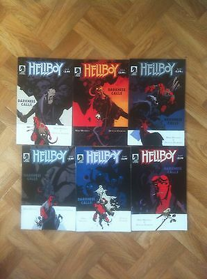 Hellboy Darkness Call 1 To 6 Complete Set Mignola Very Fine/near Mint (W4)