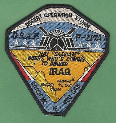 Operation Desert Storm Usaf F-117A Stealth Military Aircraft Patch