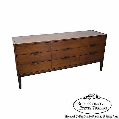 Mid Century Walnut Danish Style Long Dresser