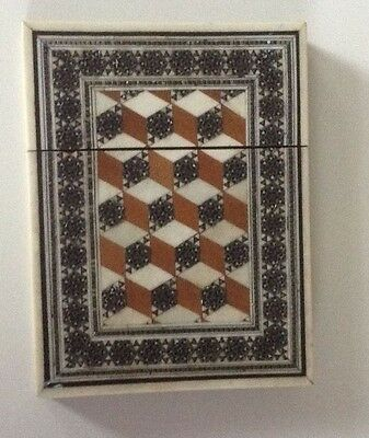 Visiting card holder with ivory inlay